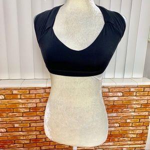 LULULEMON black sports  bra crop top size 6